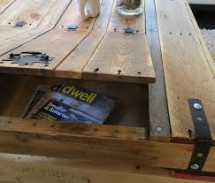 Diy Wooden Pallet Coffee Table by Recycled Furniture Ideas Recycled Pallet Coffee Table Storage