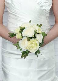 silk wedding bouquet in green silk wedding flowers