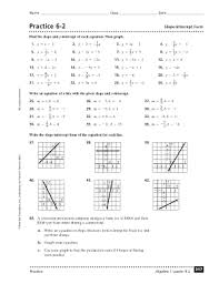 practice 6 2 algebra slope y intercept fill online printable