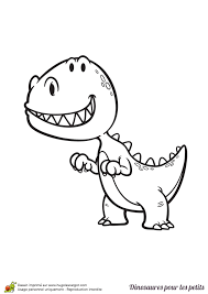 coloriage d u0027un dinosaure pour les petits un t rex