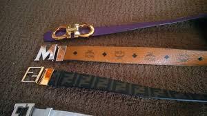 designer belt collection worth 6 000 ferragamo fendi mcm