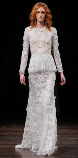 Long Sleeve Wedding Dresses Long Sleeve Wedding Dresses At Bridal Fashion Week Spring 2018
