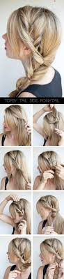 braided hairstyle instructions step by step topsy tail ponytail tutorial the no braid side braid hairstyle