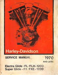 harley davidson service manual 1970 to 1975 electra glide fl flh