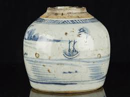 white ginger jar late ming dynasty chinese blue and white stoneware ginger jar ebay