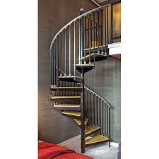 shop the iron shop ontario 48 in x 10 25 ft black spiral staircase
