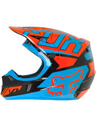 motocross kids helmet fox black orange 2017 v1 falcon kids mx helmet fox