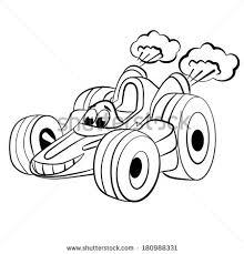 cartoon merry racing car coloring book stock vector 180988331