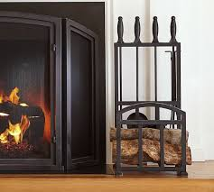 log holder in fireplace fireplace log rack home fireplaces