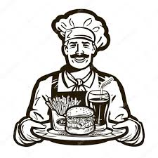 food vector fast food vector logo restaurant or cook chef icon u2014 stock