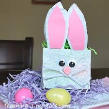 easter basket bunny toddler activities easter bunny lunch bag basket