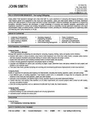 Operations Manager Resume Pdf Operation Manager Resume Haadyaooverbayresort Com