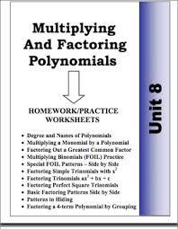 algebra unit 8 multiplying u0026 factoring polynomials homework