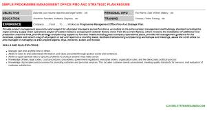 Pmo Cv Resume Sample Programme Management Office Pmo And Strategic Plan Cover Letter