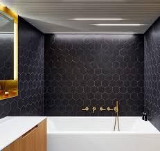 black and wood bathroom design idea black brass white and wood contemporist