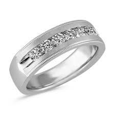 set ring vintage channel set ring in 14k white gold 7mm shane co