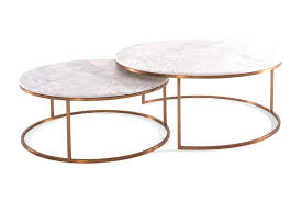 marble top nesting tables marble round coffee table furniture stylish marble round coffee