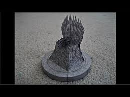 Chair Game Of Thrones Paper Model Of The Iron Throne From
