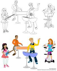 fresh beat band coloring pages fresh beat band coloring sheets