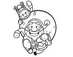 imagenes de navidad para colorear online dibujo de santa claus patinando para colorear dibujos de navidad