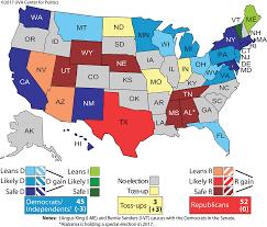 Up Map Larry J Sabato U0027s Crystal Ball 2018 U0027s Initial Senate Ratings