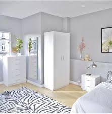 White Gloss Bedroom Furniture EBay - White high gloss bedroom furniture set