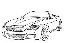 bmw m6 luxury car coloring free cars coloring pages