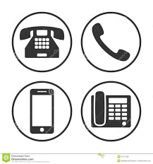 set of simple phone icon stock vector image 43117082