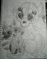baby dragon art contest designer safia begum sneezing dragon