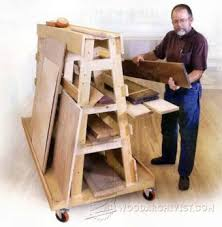 Mobile Lumber Storage Rack Plans by Pivoting Plywood Cart Plans U2022 Woodarchivist