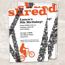 Birthday Card Invitations Printable Bmx Birthday Party Invitations Paper And Cake 2 Ways To