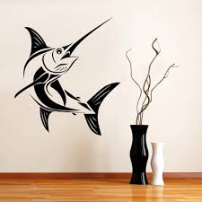 contemporary design fishing wall art innovation 25 best ideas imposing decoration fishing wall art fashionable design marlin fish decal wall art sticker home all colors