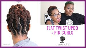 Chunky Flat Twist Hairstyles by Flat Twist Updo Pin Curls Tressenoire At Home Hair Styling