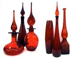 Vintage Orange Glass Vase 292 Best Vintage Glass Vases Images On Pinterest Glass Vase