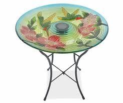 wilson and fisher solar lighted bird bath wilson fisher solar stained glass birdbath s home garden in