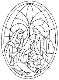 nativity coloring pages stained glass coloringstar