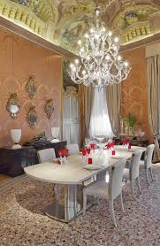dining rooms crystal chandelier unique mirror dining chair fabric