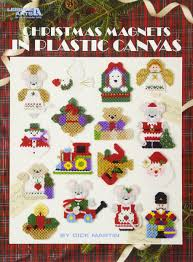 christmas magnets in plastic canvas leisure arts 5157