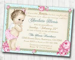 twins baby shower invitation for twin girls vintage