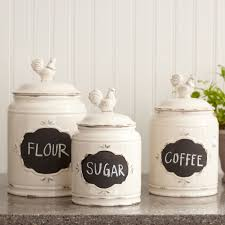 kitchen jars and canisters decoration flour and sugar canisters elegant ceramic kitchen jars