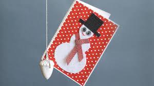 create a christmas card homelife how to make a snowman christmas card how to make