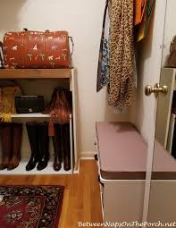 Small Storage Bench Closet Update Small Storage Bench For Putting On Boots And Shoes