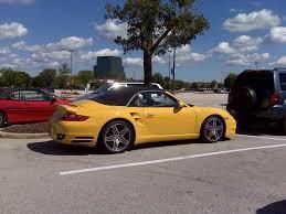 yellow porsche yellow porsche 911 turbo 997 cabriolet 1 madwhips