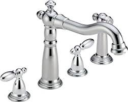 Widespread Kitchen Faucet Delta Faucet 2256 Dst Two Handle Widespread Kitchen