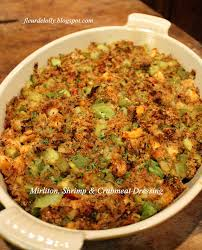 fleur de lolly mirliton shrimp and crabmeat dressing creole