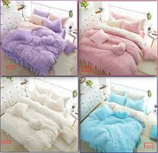 fur warm soft winter duvet cover princess bedding set high quality