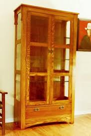 curio cabinet mission style curio cabinets for sale with glass