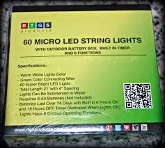 Temporary Lighting String by Temporary Waffle Micro Led 60 Warm White Color String Lights