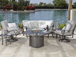 Firepit Set by Woodard Belden Cushion Aluminum Firepit Set Beldloungeset2