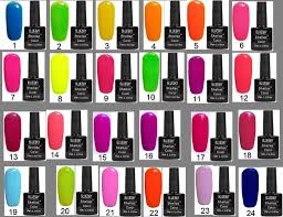 any colour neon bluesky shellac nail polish uv soa